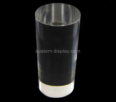 Custom round clear plexiglass display block