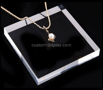 Custom clear plexiglass necklace display block