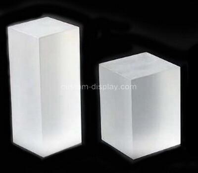Custom plexiglass display blocks