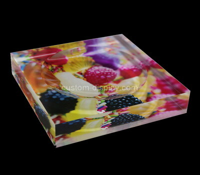 Custom plexiglass UV printing soap dish