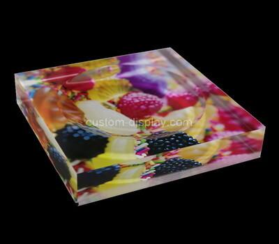Custom plexiglass UV printing soap dish