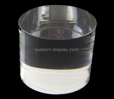 Custom round plexiglass jewelry display block