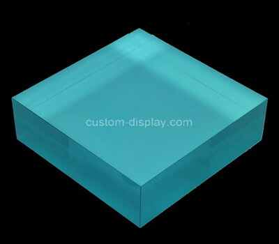 Custom blue plexiglass display block