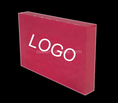 Custom lucite logo display block