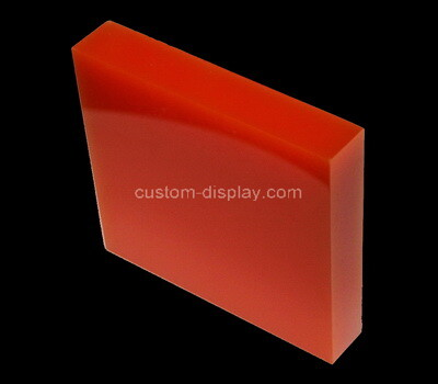 Custom red perspex display block
