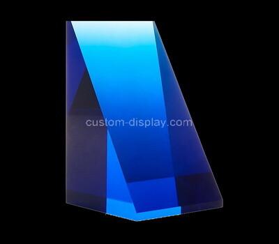 Custom triangle perspex jewelry display block