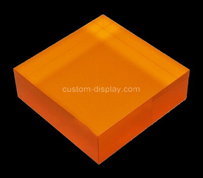 Custom orange perspex display block