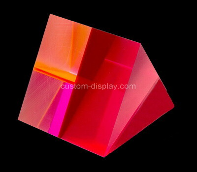 Custom neon red triangle plexiglass block