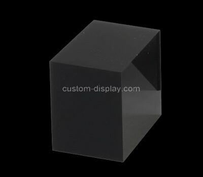 Custom black acrylic display block