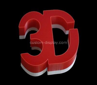 Custom acrylic 3D letters