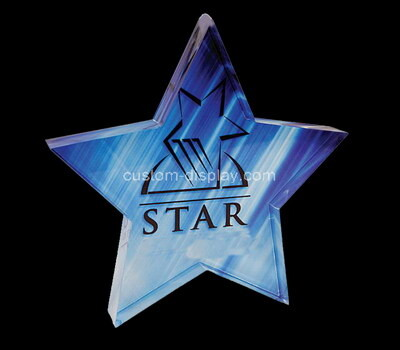 Custom laser cut acrylic five-pointed star