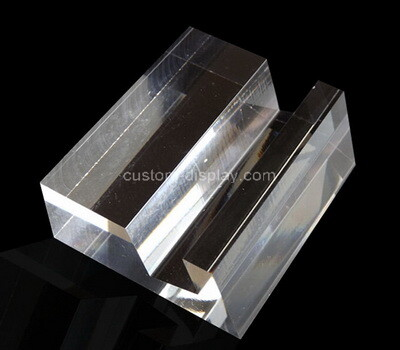 Custom clear perspex sign holder display block
