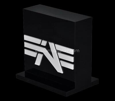Custom acrylic brand sign block