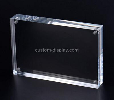 Custom clear acrylic magnet photo block