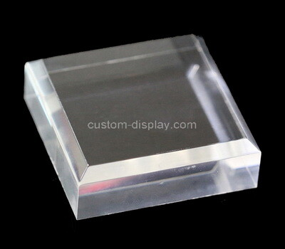 Custom clear acrylic beveled display block