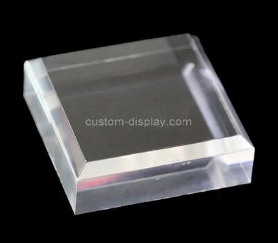 Custom clear acrylic beveled display block