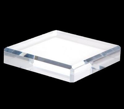 Custom plexiglass beveled display block