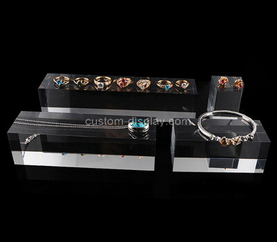 Custom plexiglass jewelry display blocks