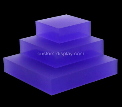 Custom purple plexiglass display blocks