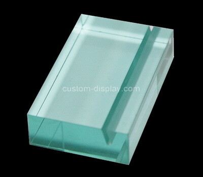 Custom lucite sign holder block