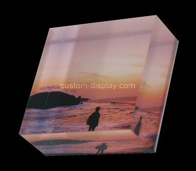 Custom lucite UV printing photo block
