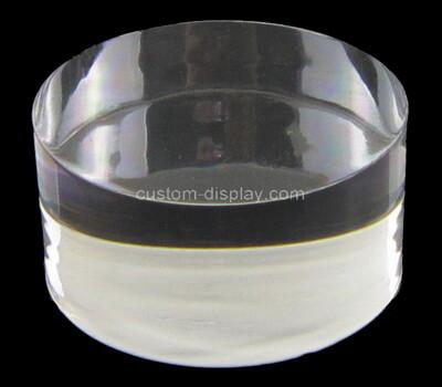 Custom round lucite display block
