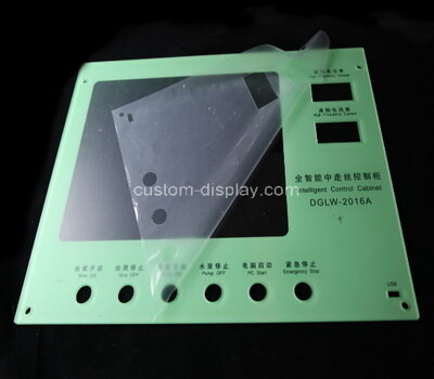 Custom laser cutting acrylic control panel