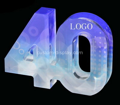 Custom laser cutting plexiglass numbers