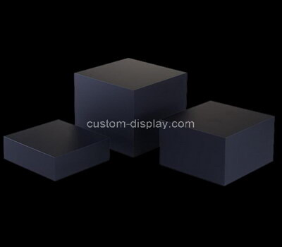 Custom laser cutting black plexiglass display blocks