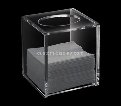 Custom square clear acrylic tissue paper box