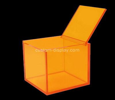 Custom square orange acrylic box