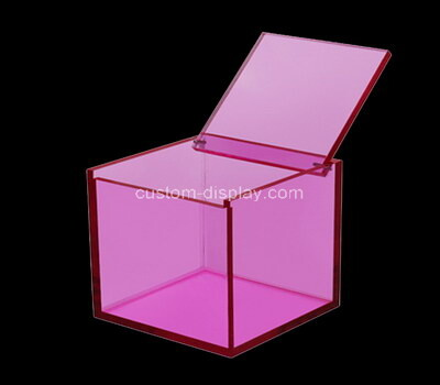 Custom square purple acrylic box