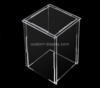 Custom clear acrylic collapsible display box