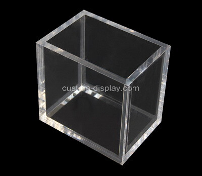 Custom clear acrylic pen holder box