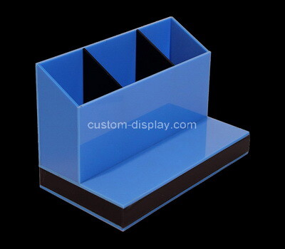 Custom table top blue acrylic orangizer box