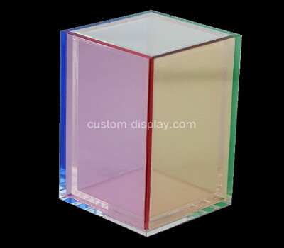 Custom square acrylic pen holder