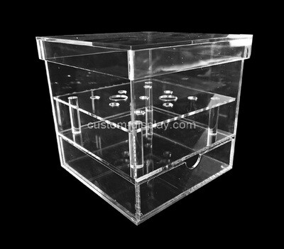 Custom clear acrylic flower box