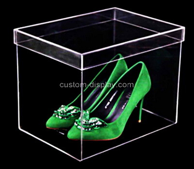 Custom clear acrylic shoe box