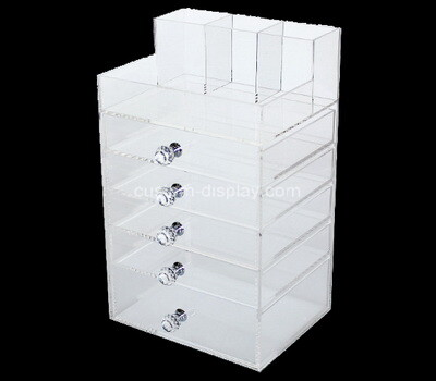 Custom 5 drawers acrylic organiser box
