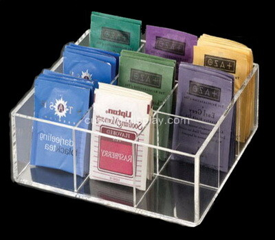 Custom 12 grids acrylic tea bags display box