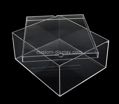 Custom clear acrylic storage box with lid