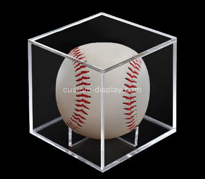 Custom clear acrylic baseball display box