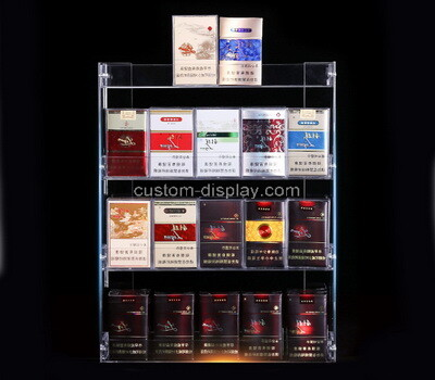 Custom clear acrylic cigarette display cabinet