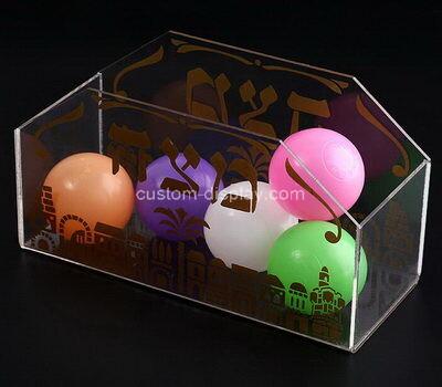Custom clear acrylic balls display case