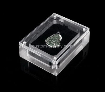 Custom clear acrylic jewelry display box