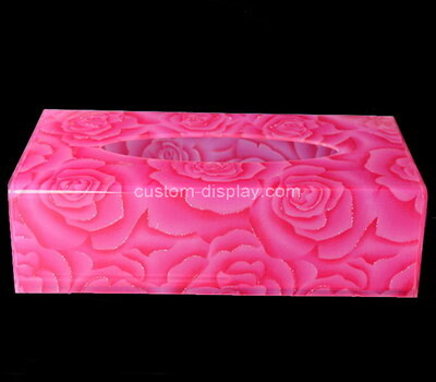 Custom color plexiglass tissue box