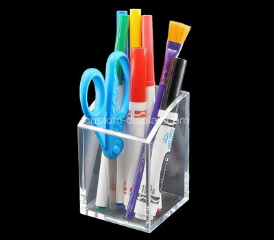Custom clear plexiglass pens holder box