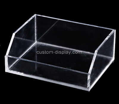 Custom table top clear plexiglass organizer box