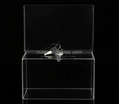 Custom clear plexiglass lockable voting box