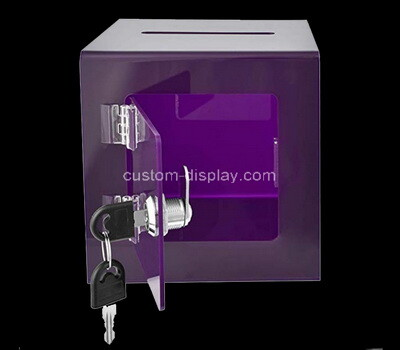 Custom purple plexiglass lockable election box